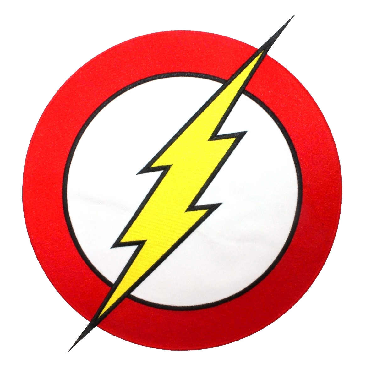 XLG The Flash Superhero Costume Logo Lightning Speed Hero Iron-On Applique Patch