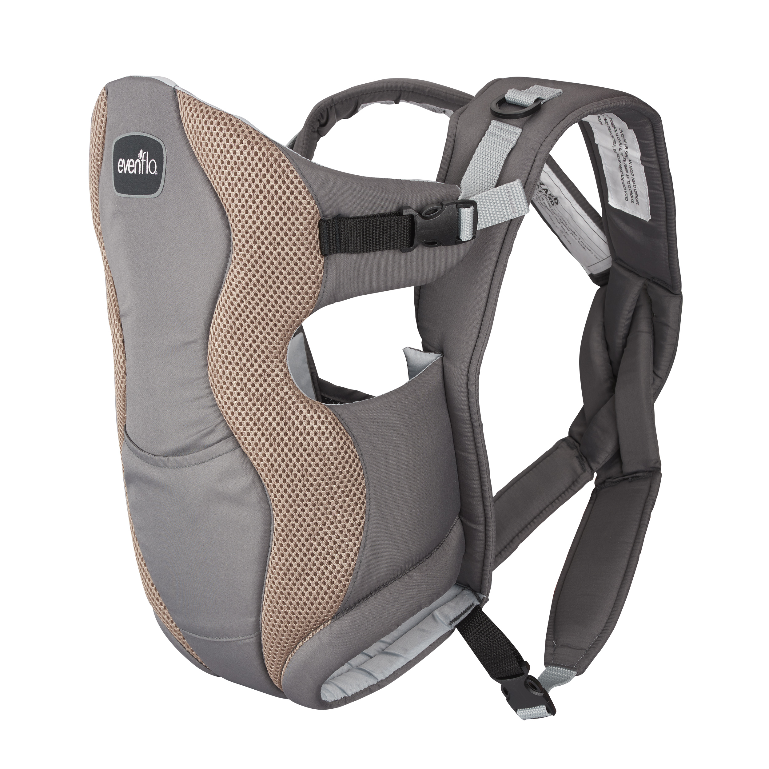 Evenflo Breathable Carrier, Gray Mist