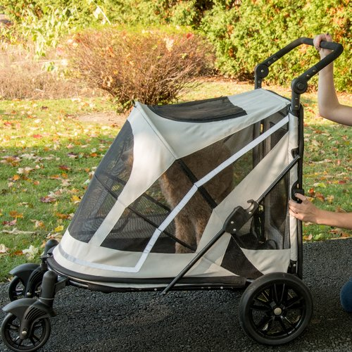 Pet Gear Expedition No-Zip Stroller Carriage for Dogs, Cats & Puppy, Boysenberry