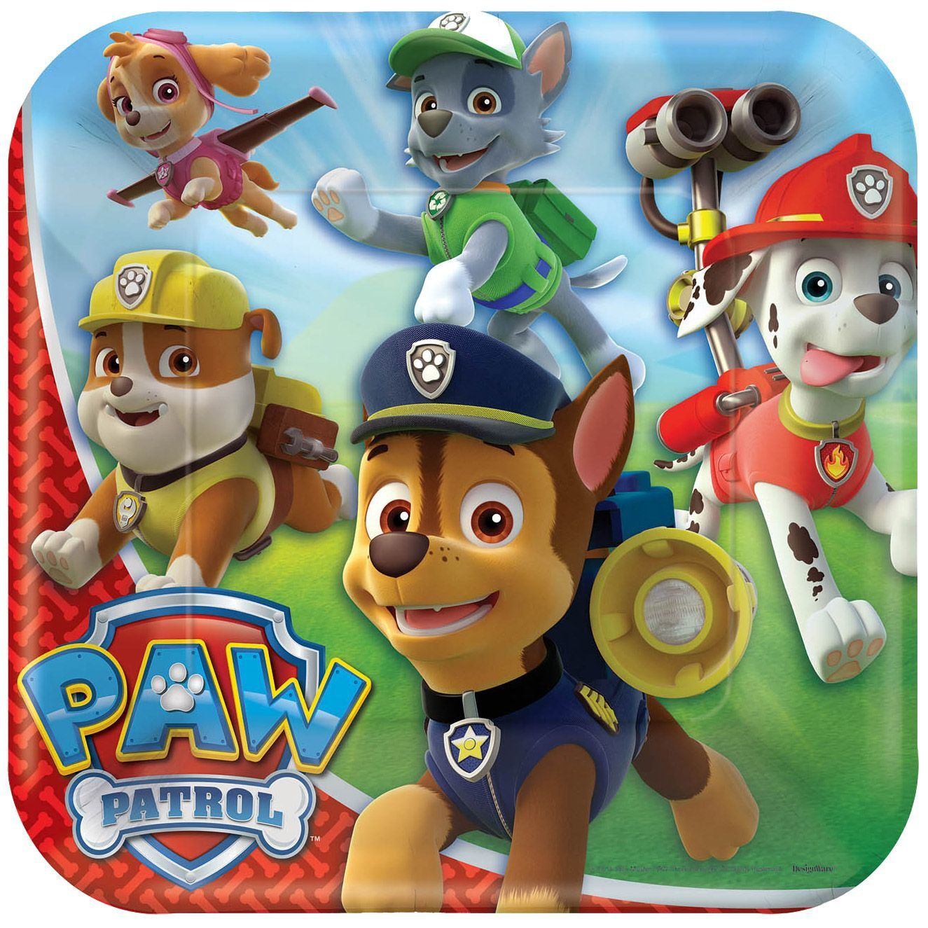 Paw Patrol Party Supplies 48 Pack Lunch Plates
