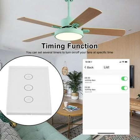 Tuya WiFi Smart Ceiling Fan Switch /AU Smart Touch Switch Timer APP