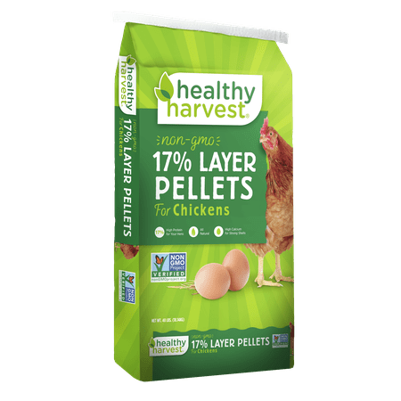 Healthy Harvest Non-GMO Layer Pellets Chicken Feed 40 lb.