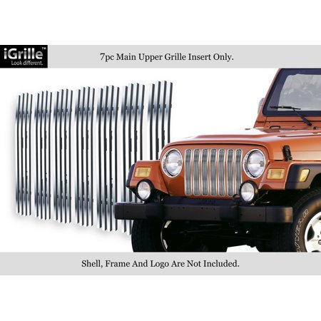 Fits 97-06 Jeep Wrangler Vertical Stainless Steel Billet Grille Grill Insert