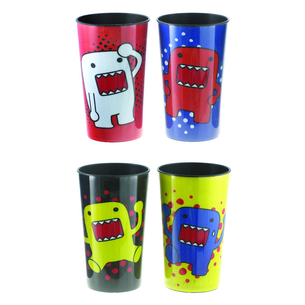 Domo Multi-Colored 16 Oz. Plastic Party Cups - 4 Pack