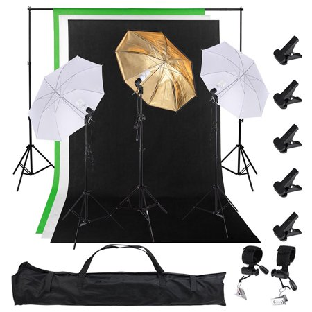 5x10 Ft Photography Continuous Backdrop Lighting Kit 10Ft Support stand 33