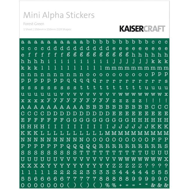 """White /& Chocolate Kaisercraft Mini Alphabet Stickers 5.9/""""X5.9/"""""""