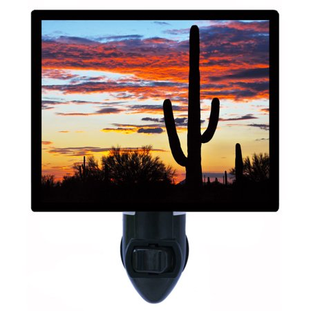 Night Light, Photo Night Light, Hands Off, Saguaro Cactus, Southwest plus FREE Switchable (Hands Free Indiglo Night Light)