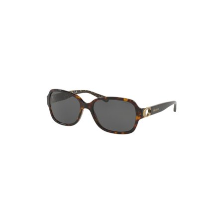 174113410868 Coach Ladies Sunglasses In Dark Tortoise And Dark Gray Solid - image 1 of 2  ...