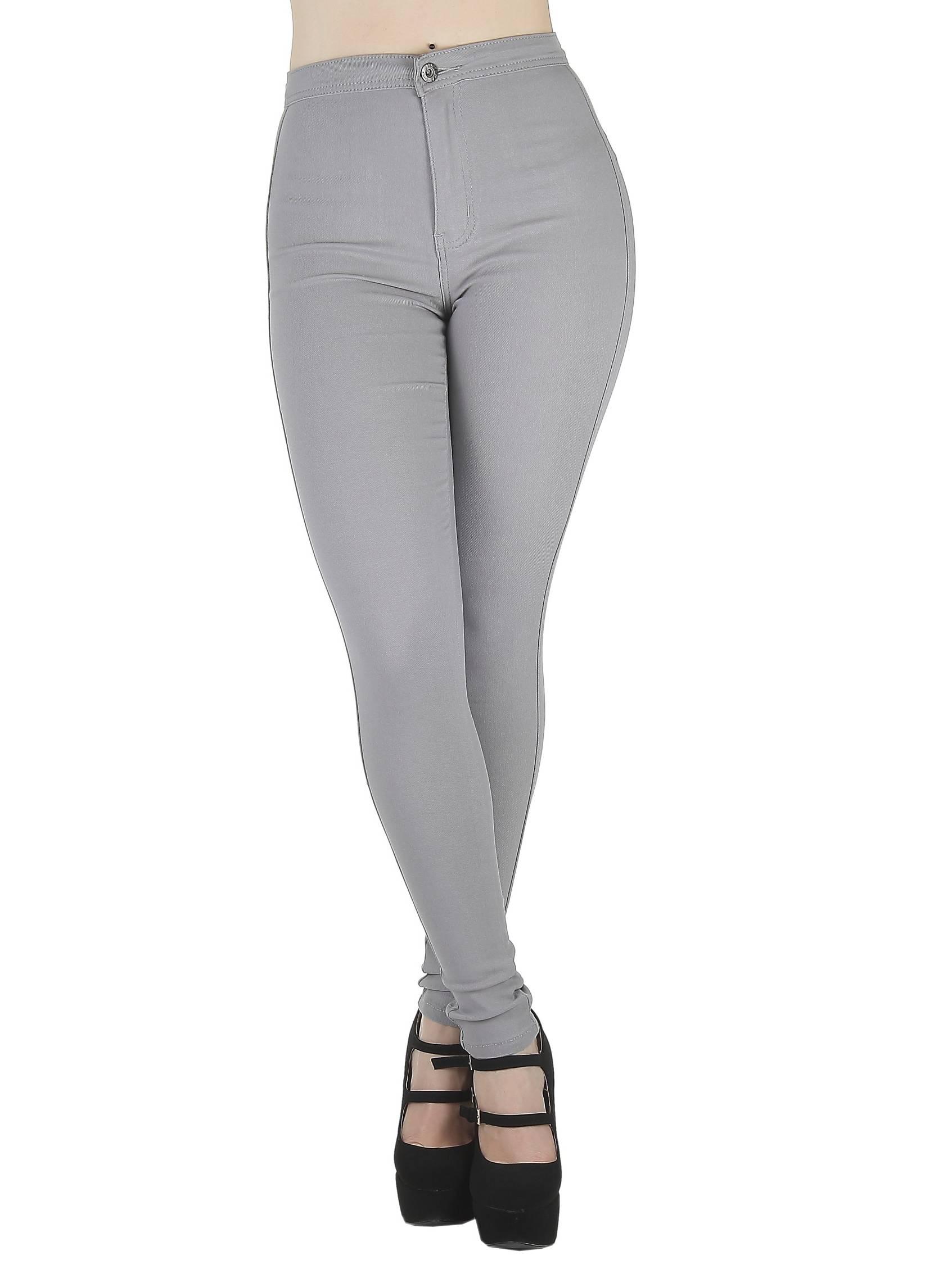 GP2100 - High Waist, Super Stretch, Sexy, Side Cut Design, Skinny Color Jeans