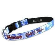 Strapworks DLPID-34-M 0. 75 W inch Deluxe Line Pet ID Adjustable Dog Collar - Medium