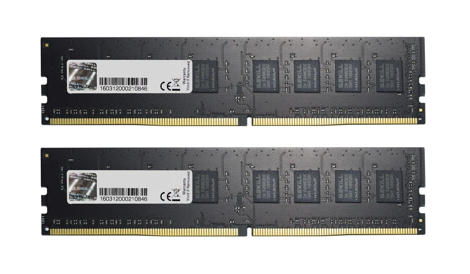 16GB G.Skill DDR4 2400MHz PC4-19200 CL15 NS Value Series Dual Channel Kit (2x8GB)