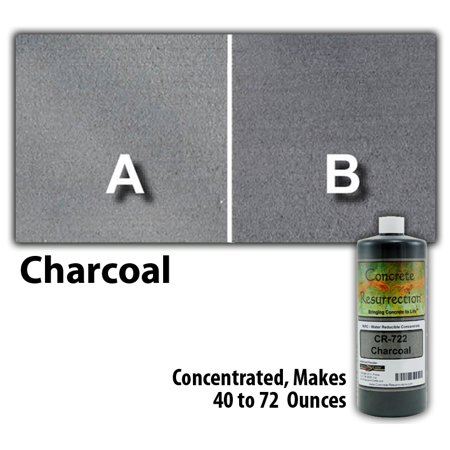 Concrete Resurrection Eco and Environmentally Friendly Concrete Stain Charcoal ()