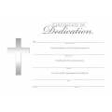 Certificate-Dedication w/Silver Foil Embossing (5  x 7 ) (Pack of 6)