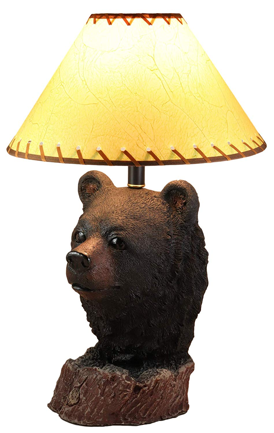 Ebros Woodland Rustic Cabin Lodge Decor Mountain Black Bear Head Bust Table Lamp Statue With Shade 23 High Forest Bears Bedside Desktop Lamps Vintage Design Home Accent Walmart Com Walmart Com