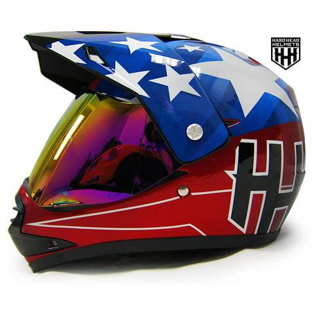 HHH DOT Youth & Kids Helmet for Dirtbike ATV Motocross MX Offroad Motorcyle Street bike Snowmobile Helmet with VISOR (Large,