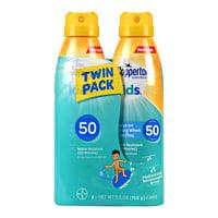 Coppertone Kids Sunscreen Spray SPF 50, Twin Pack (5.5 oz Each)