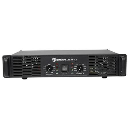 rockville rpa5 1000 watt peak 500w rms 2 channel power amplifier pro dj amp. Black Bedroom Furniture Sets. Home Design Ideas