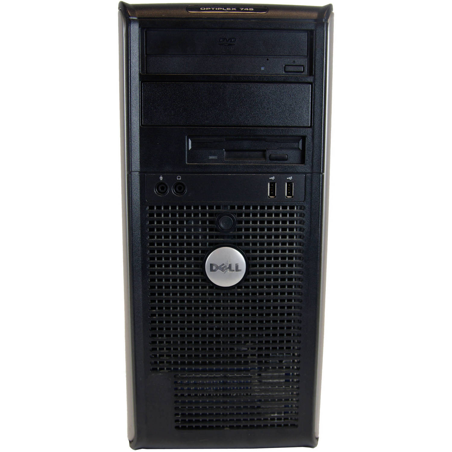 Refurbished Dell 745 TWR Desktop PC with Intel Core 2 Duo E4300 Processor, 4GB Memory, 500GB Hard Drive and Windows 10 Home (Monitor Not Included)