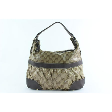 Gucci Crystal Canvas Monogram GG Medium Hobo 17gz1019
