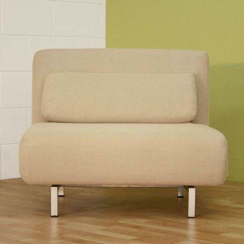 Baxton Studio Clement Microfiber Convertible Chair Bed - Cream