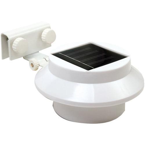 Rethink 2-Pack Multi-Purpose Gutter/Fence Solar Light, White