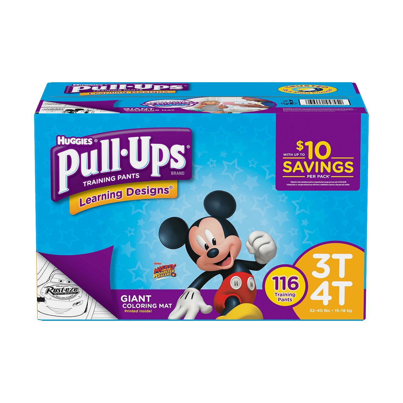 Huggies Pull-ups Training Pants for Boys 3T/4T Boys (116 ct.)