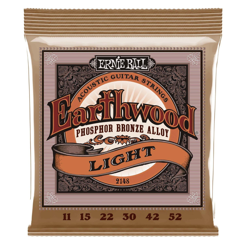 Ernie Ball Earthwood Light Phosphor Bronze Acoustic String Set, .011 - .052