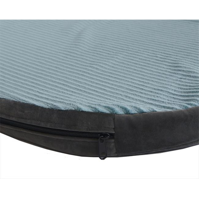 DenHaus BEDZH02 Medium ZenHaus Dog Bed in Blue Smoke and Steel Grey