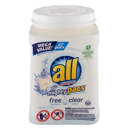 All With Stainlifters Mighty Pacs Free Clear   67 Ct