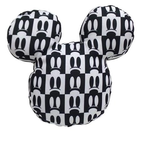 Design International Group Ldg89677 13 X 13 In  Mickey Shaped Pillow   Mickey Eyes Print  44  Black   Pack Of 6