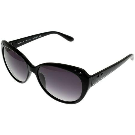 Marc by Marc Jacobs Sunglasses Womens MMJ232/S D28 DX Shiny Black Rectangular Size: Lens/ Bridge/ Temple: 57-15-135