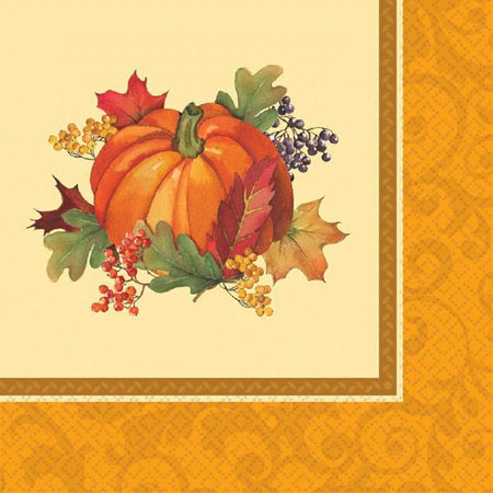 Bountiful Holiday 16 Ct Luncheon Napkins Fall - Thanksgiving Holiday