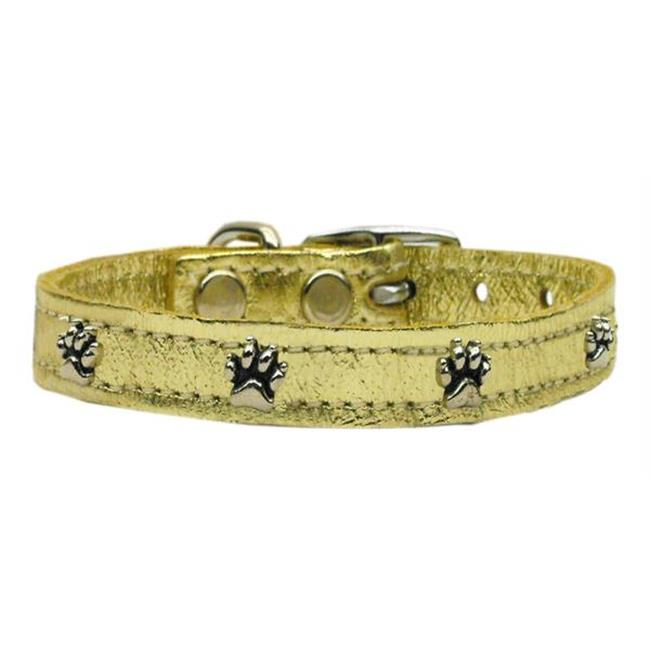 Mirage Pet Products 83-19 10Gd Metallic Paw Leather  Gold 10