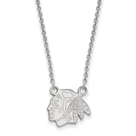 Chicago Blackhawks Small Pendant Necklace In Sterling Silver 3 10 Gr