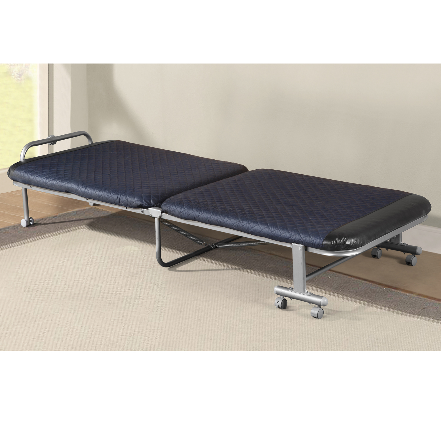 Home Source Wendall Silver Single Folding Bed