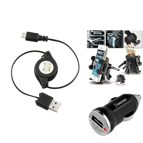 Insten Air Vent Holder Mount+Mini Car Charger+Cable USB for Samsung GALAXY Note 3 N9000