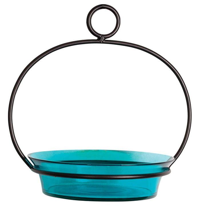 Couronne COURM33720009 Aqua Cuban Bowl Birdbath