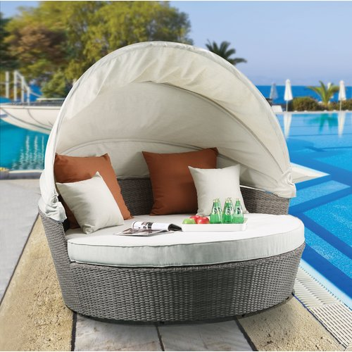 Orren Ellis Winebarger Patio Daybed with Cushions