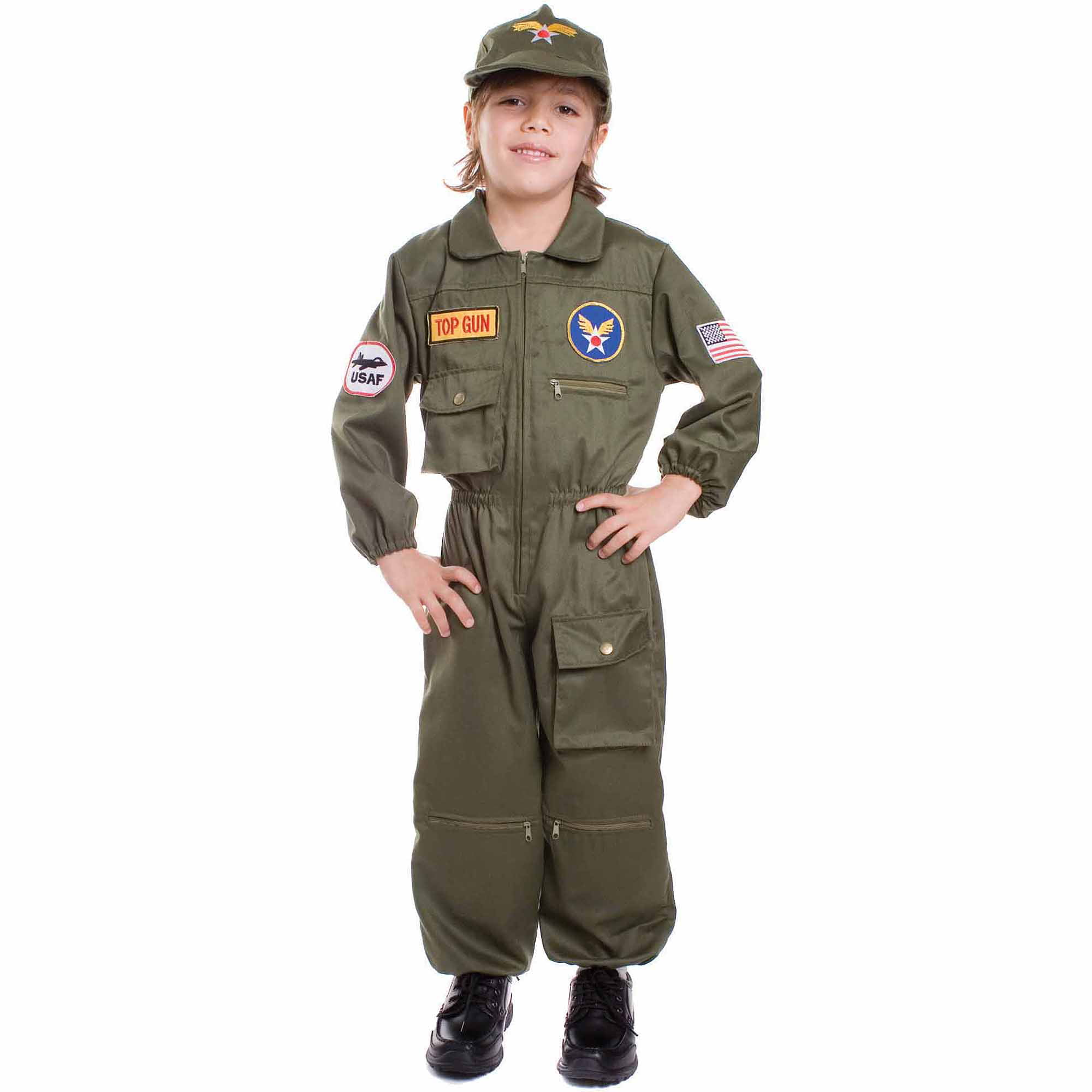 air force pilot child halloween costume walmartcom - Boys Army Halloween Costumes