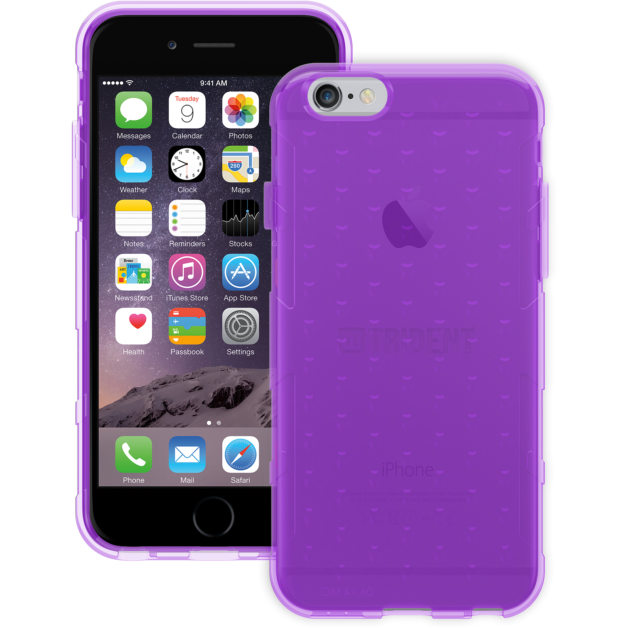Trident Perseus Gel Case for Apple iPhone 6, Purple