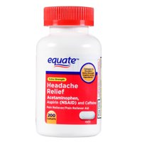 Equate Extra Strength Headache Relief Acetaminophen Tablets, 200 Count