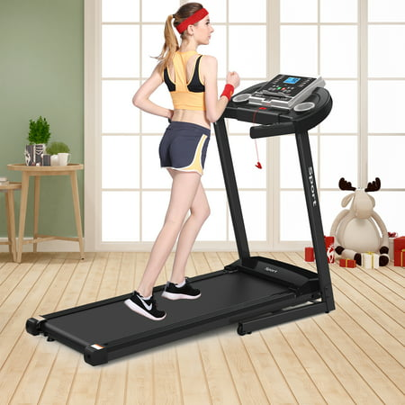 2.0 HP Folding Electric Treadmill for Home Workout Foldable & Portable Motorized Running Machine With LCD Screen Walking/ Running Machine with Ipad/ Cup Holder MP3 Speakers