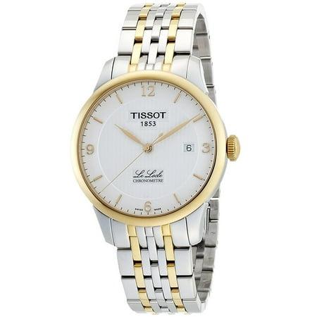 Tissot Two Tone Bracelet - Men's Le Locle 39mm Two Tone Steel Bracelet Steel Case Automatic Analog Watch T006.408.22.037.00