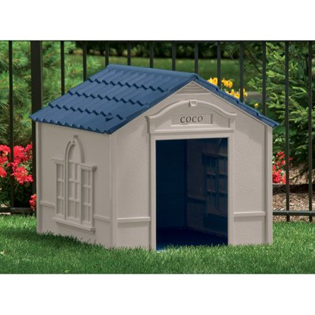 Dog House Blind - Suncast Deluxe Personalized Large Dog House DH 350
