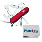 Victorinox Swiss Army Fieldmaster Pocket Knife, Red, 91mm + Photo4less Cleaning Kit