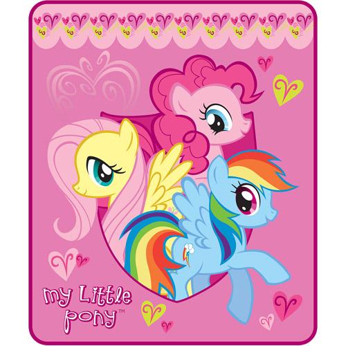"My Little Pony Cuddle Ponies 46"" x 60"" Throw"