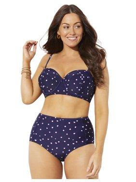 Swimsuits For All Women's Plus Size Madame High Waist Underwire Bikini