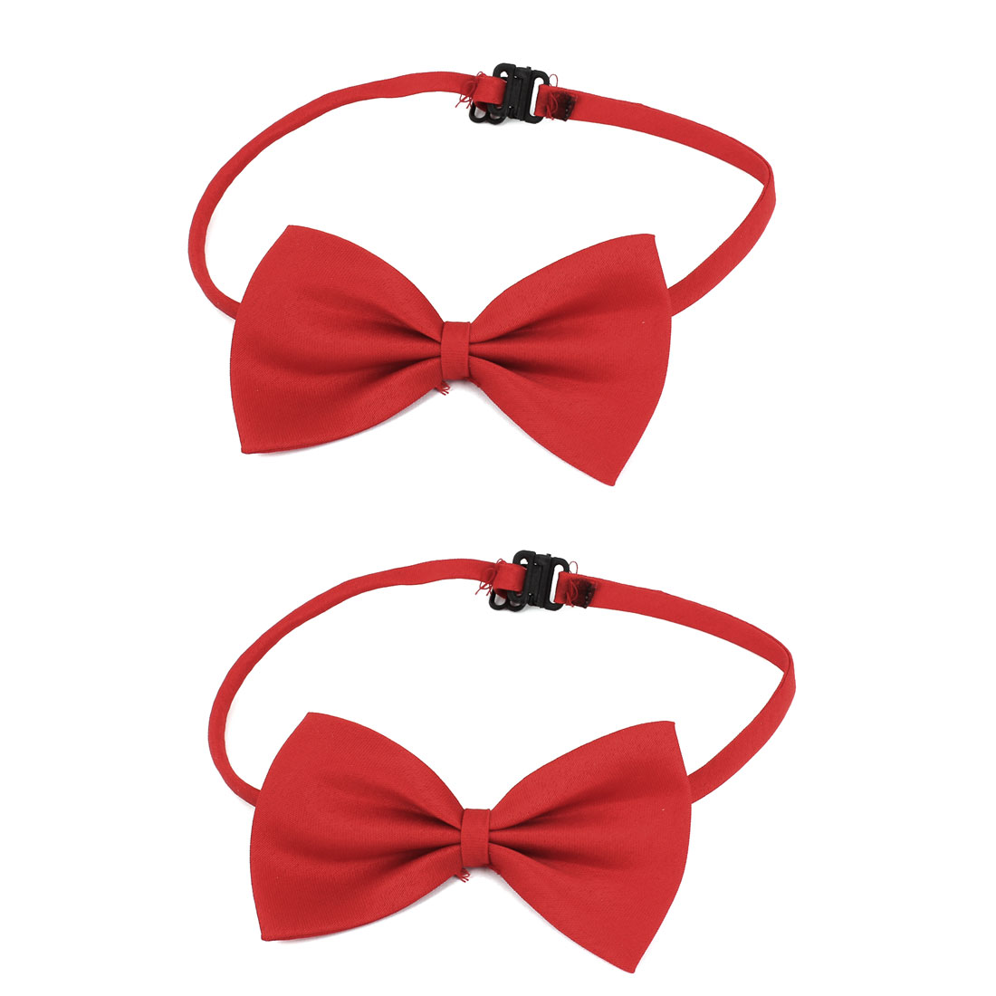 Cat Dog Puppy Pet Adjustable Collar Clothes Bowtie Bow Tie Necktie Red 2 Pcs