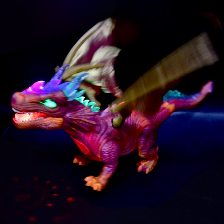 Walking Dinosaur Fire Dragon Kids Light Up Toy Figure Sounds Real Movement LED (Color May Vary, simple assembly required)