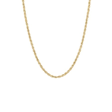 - 10K Yellow Gold 2.9mm Rope Chain Necklace, 22